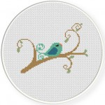 Bird in branch 14 Illustraition