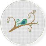 Bird in branch 14 Illustraition