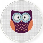 Hippie Owl Virtual Stitches Illustraition