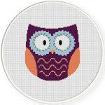 Hippie Owl Virtual Stitches Illustraition