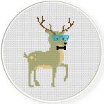Hipster Deer Illustraition