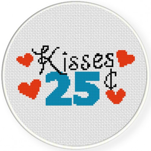 Kisses 25 Cents Illustration