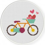 Love Bike Valentine Illustraiton
