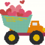 Valentine DumpTruck Virtual Stitches