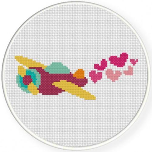 Valentine Plane Illustraiton