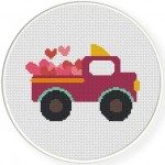 Valentine Truck Illustraiton