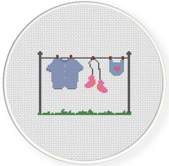 Baby Clothes Cross Stitch Pattern