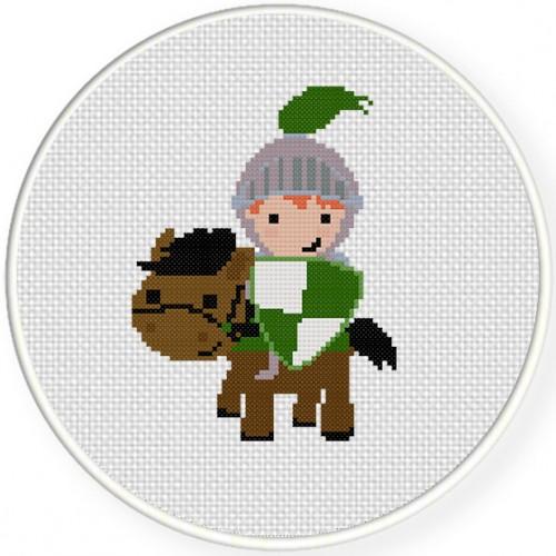 Knight on Horse Illustraition