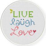 Live Laugh Love Illustraition