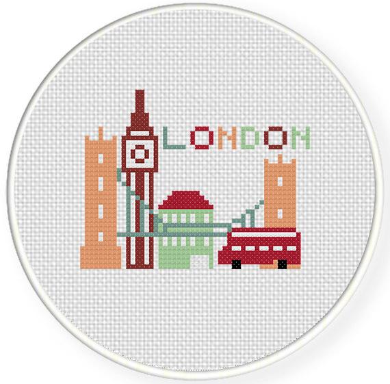 London cross stitch pattern PDF