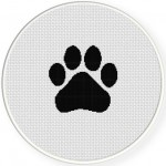 Paw Print Black Illustraition