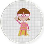 Pink Girl Illustraition
