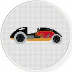 Race Car Flames Illustraition