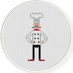 Slim Chef Cook Illustraition