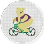 Unicycle Bear Illustraition