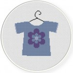 Baby Shirt Lavender Illustraition