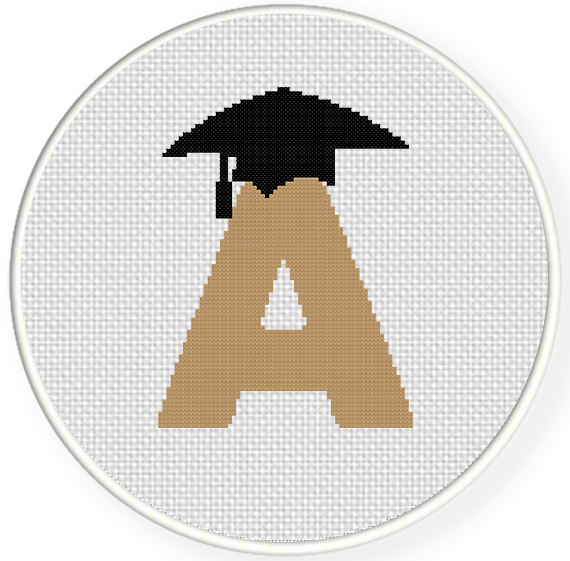 grad cap cross stitch pattern daily cross stitch