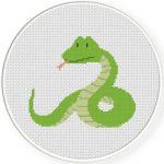 Green Snake Illustraition