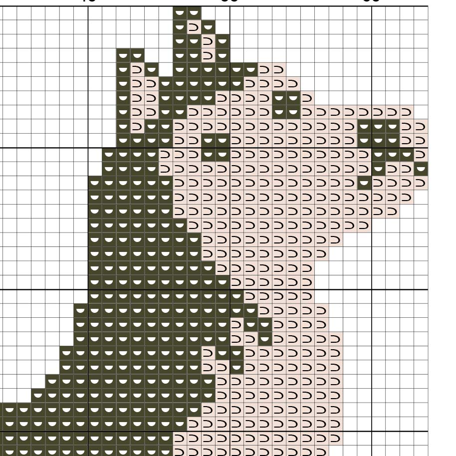 Cross stitch pattern of a dog - a symbol of 2018 40