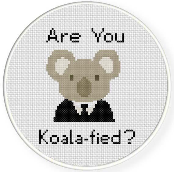 Koalafied cross stitch pattern daily