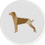 Polygonal Dog Illustraition