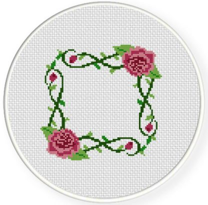 Rose Frame Cross Stitch Pattern – Daily Cross Stitch