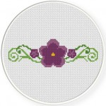 Violet Floral Border Illustraition