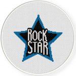 Blue Rock star Illustration
