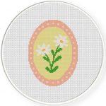 Cameo Daisy Flower Illustration