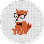 Hipster Fox Illustration