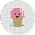 I Scream For Ice Cream Illustration