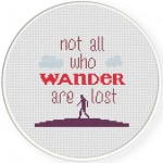 Not all who wander are lost Illustration