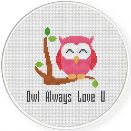 Owl Always Love You Cross Stitch Pattern Daily Cross Stitch