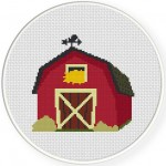 Red Barn Virtual Stitches Illustration