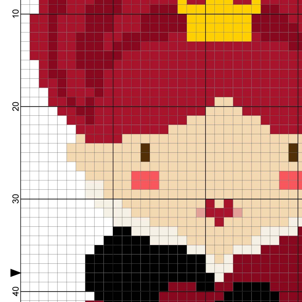 Red Queen Cross Stitch Pattern Daily Cross Stitch