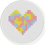 Tetris Heart Illustration