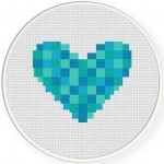 Woven Heart blue Illustration