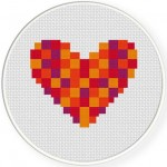 Woven Heart red Illustration