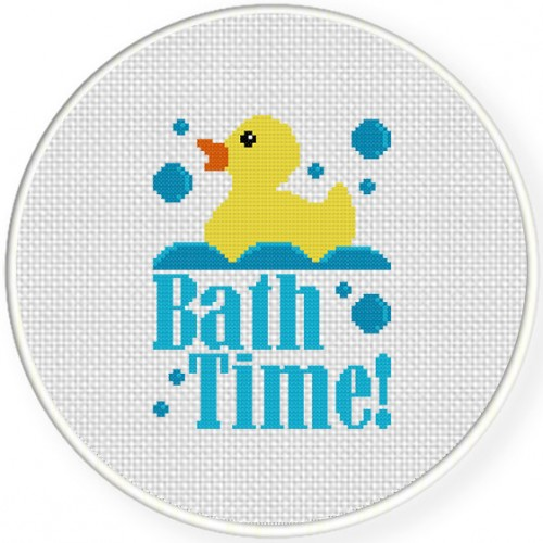 Bath Time Stitch Illustration