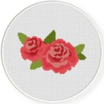 Garden Rose Stitch Illustration