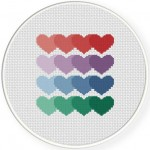 Heart Pattern Stitch Illustration