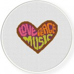 Love Peace Music Illustration