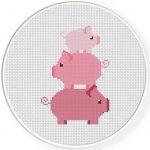 Piggy Tower Stitch Illustration