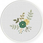 Spring Flower Blue Stitch Illustration