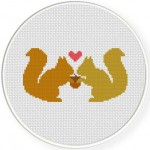 Squirrel Love Stitch Illustration