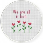We Are All In Love Stitch Illustration