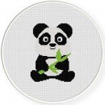 Baby Panda Cross Stitch Illustration