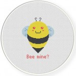 Bee Mine Cross Stitch Illustration