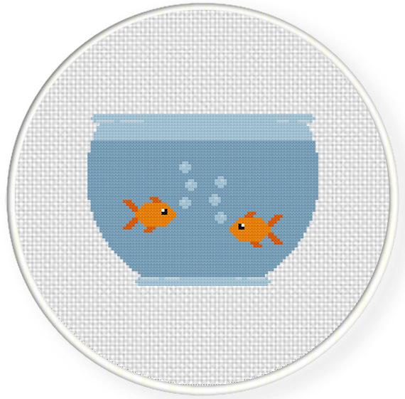 Fish Bowl Cross Stitch Pattern Daily Cross Stitch