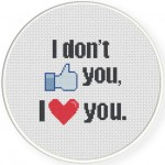 I Don't Like You Cross Stitch Illustration